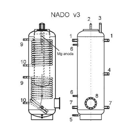 Akumulatsioonipaak 1000 l, Dražice NADO 1000/100 v3