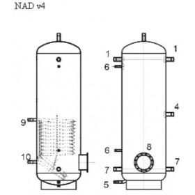 Storage tank 750 l, Dražice NAD 750 v4