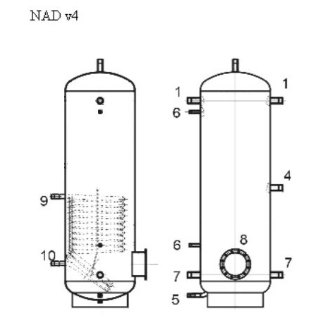 Varaaja 750 l, Dražice NAD 750 v4