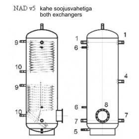 Storage tank 500 l, Dražice NAD 500 v5