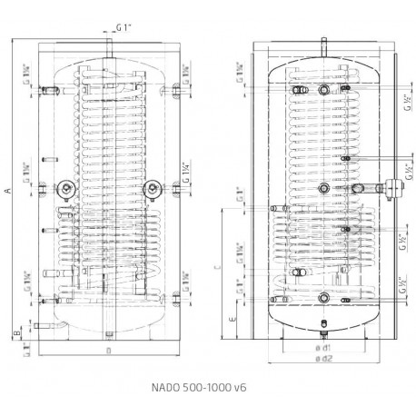 Storage tank 500 l, Dražice NADO 500/25 v6