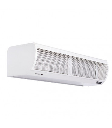 Water heated air curtains