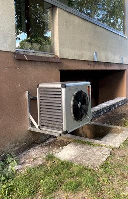 Õhk-vesi soojuspump Master-Therm välisosa paigaldus